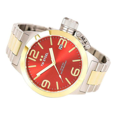 TW Steel CB71 Men's Canteen Quartz Red Dial Two-Tone Watch