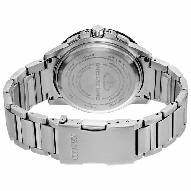 Citizen CC3005-85E Men's Satellite Wave Black Dial Stainless Steel Watch