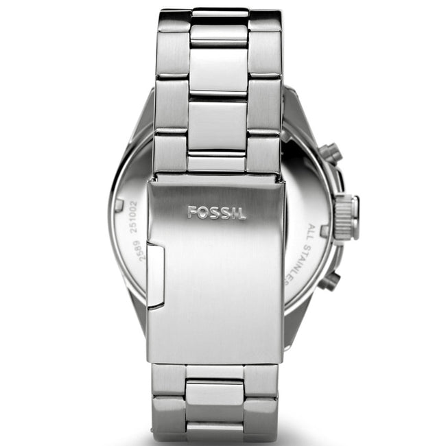 Fossil CH2600IE Men's Decker Stainless-Steel Watch