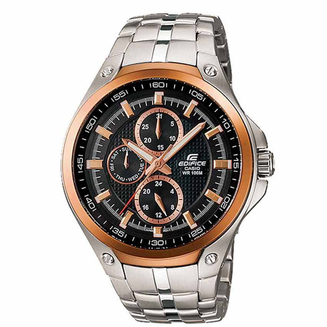 Casio Gents EF-326D-1AVUDF Edifice Chronograph Multi Hand Black Dial Watch