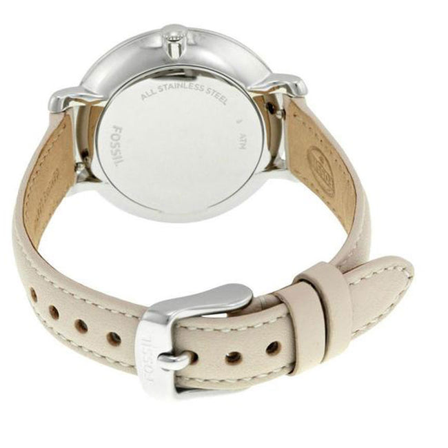 Fossil ES3793 Women's Jacqueline White Dial Beige Leather Watch
