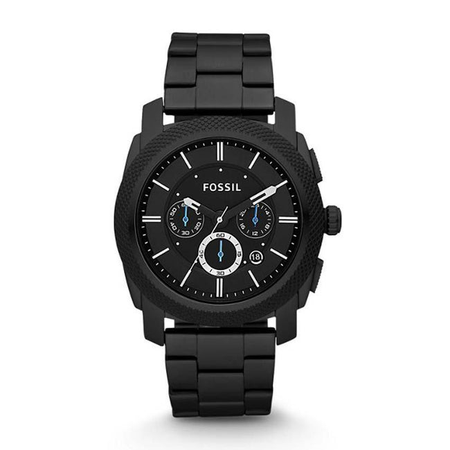 Fossil FS4552 Men's Machine Black Stainless Steel Chronograph Watch