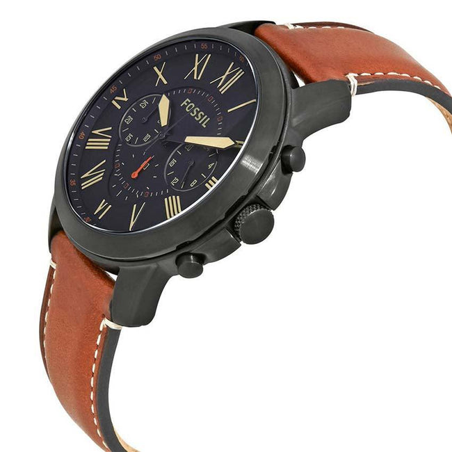 Fossil FS5241 Men's Grant Chronograph Luggage Leather Watch