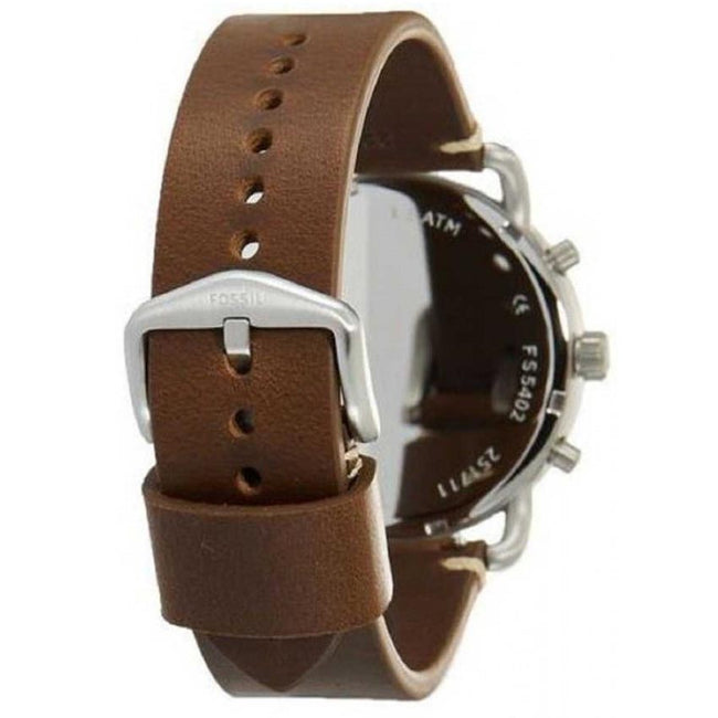 Fossil FS5402 Men's Commuter Brown Leather Strap Watch