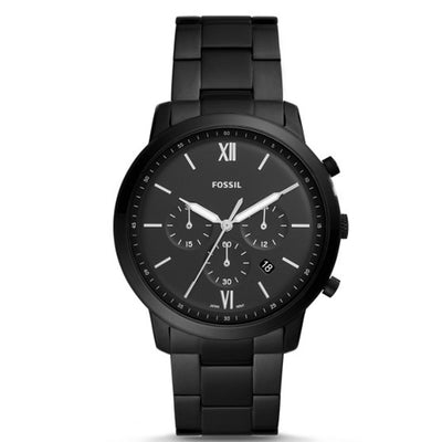 Fossil FS5474 Men's Neutra Chronograph Black Stainless Steel Watch