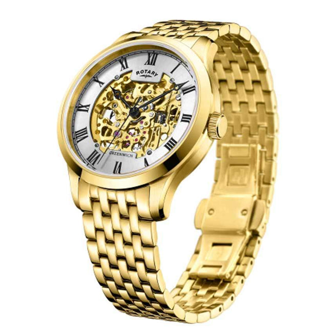 Rotary GB02941/03 Men's Greenwich Stainless Steel Gold Watch