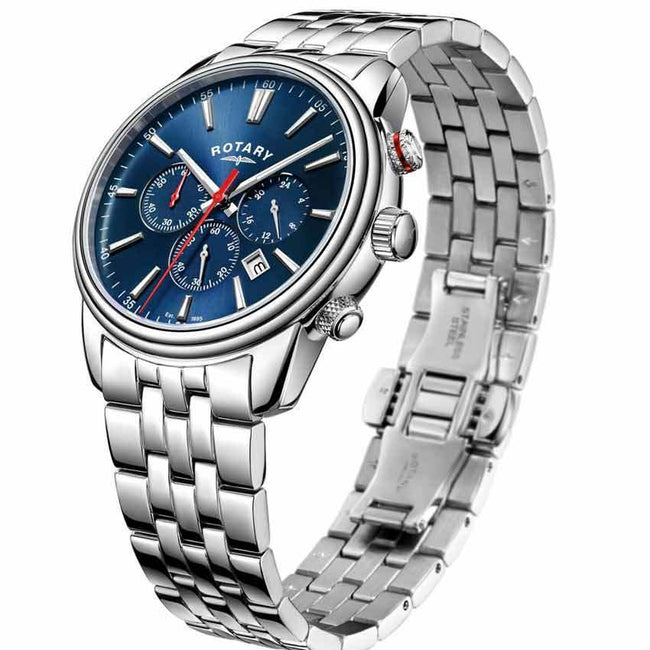 Rotary GB05083/05 Mens Monaco Blue Dial Chronograph Watch