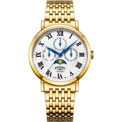 Rotary GB05328/01 Men's Windsor Gold Moonphase Medium Watch