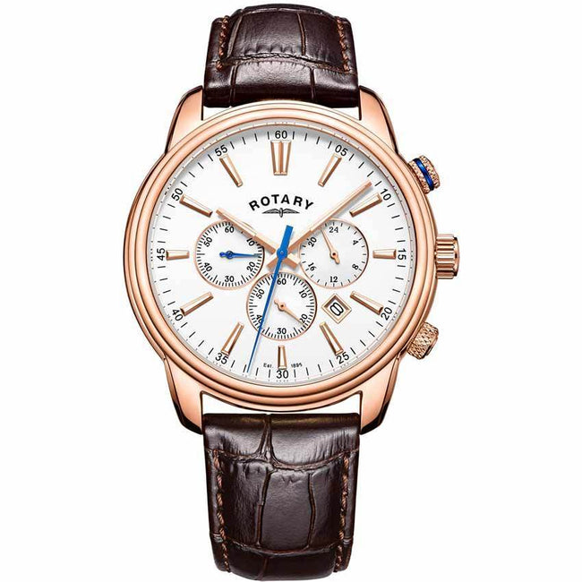Rotary GS05084/06 Men's Monaco Chronograph Leather Watch