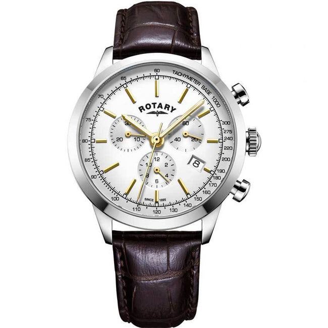 Rotary GS05253/02 Men's Cambridge Chronograph Leather Watch