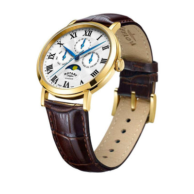 Rotary GS05328/01 Men's Windsor Gold Case Multifunction Medium Watch