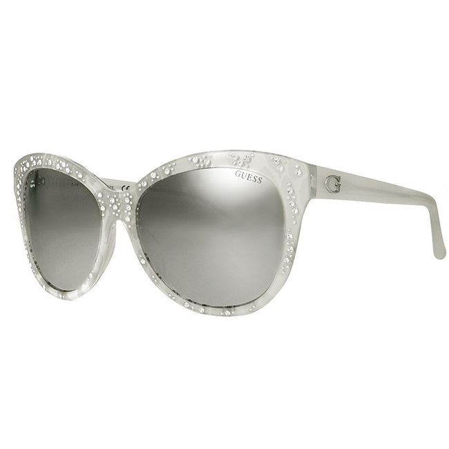 Guess 7438 24C Women's Injected Smoke Grey Lens Sunglasses