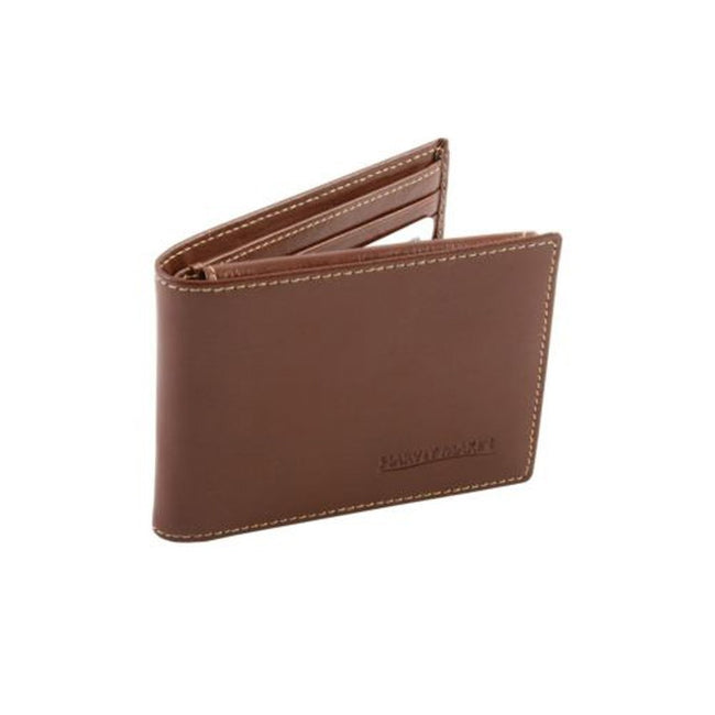Harvey Makin HM121 Gents Brown Wallet with Embossed Logo