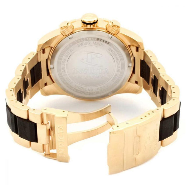 Invicta Reserve 0333 Men's Quartz Chronograph Gold Dial XL Watch