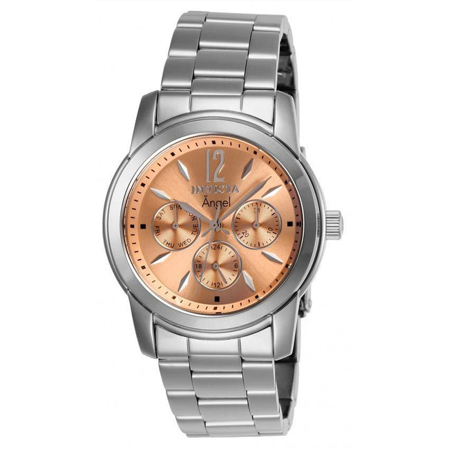 Invicta 0462 Women's Angel Quartz Chronograph Rose Gold Dial Watch
