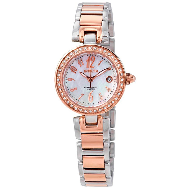 Invicta 13613 Women's Angel Quartz 3 Hand White Dial Small Watch