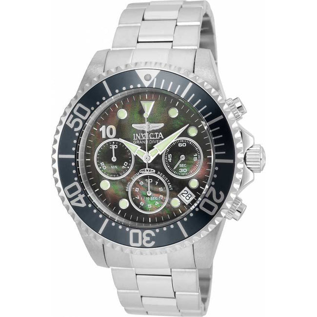 Invicta 22035  Men's Pro Diver Quartz  Chronograph MOP Dial Large Size Watch