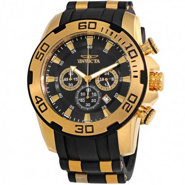 Invicta 22312 Men's Pro Diver Quartz Chronograph Black Dial Large Watch