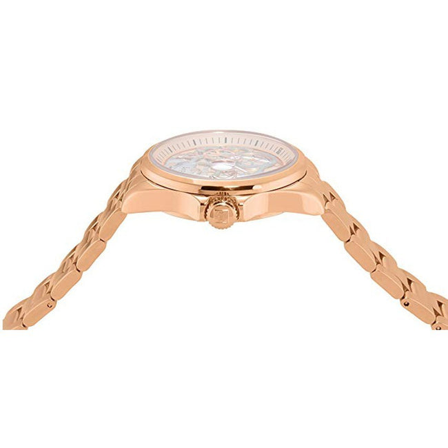 Invicta 23569 Women's Angel Quartz 3 Hand Rose Gold, Silver Dial Large Watch