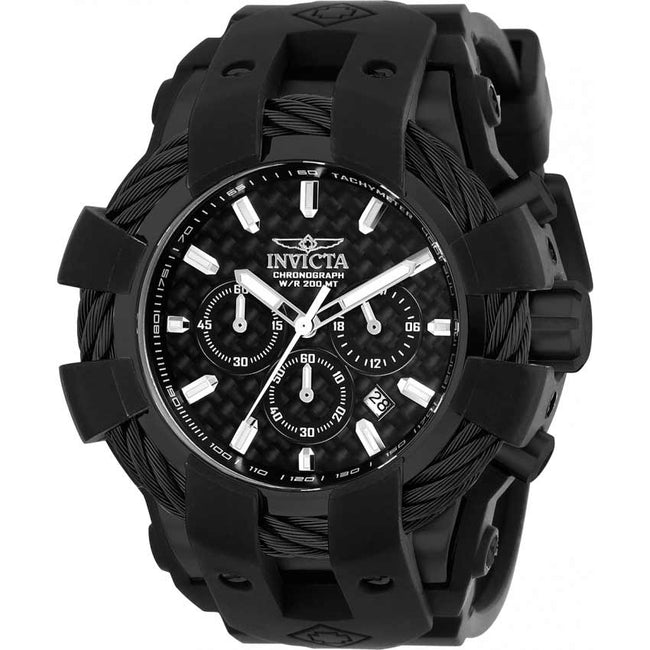 Invicta 23864 Men's Bolt Chronograph Black Dial, Silicone Watch