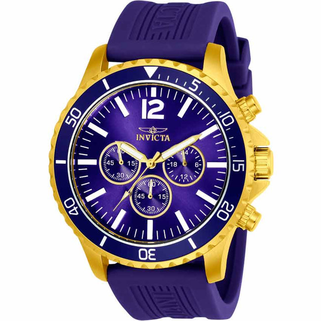 Invicta 24392 Men's Pro Diver Quartz Chronograph Blue Dial Large Watch