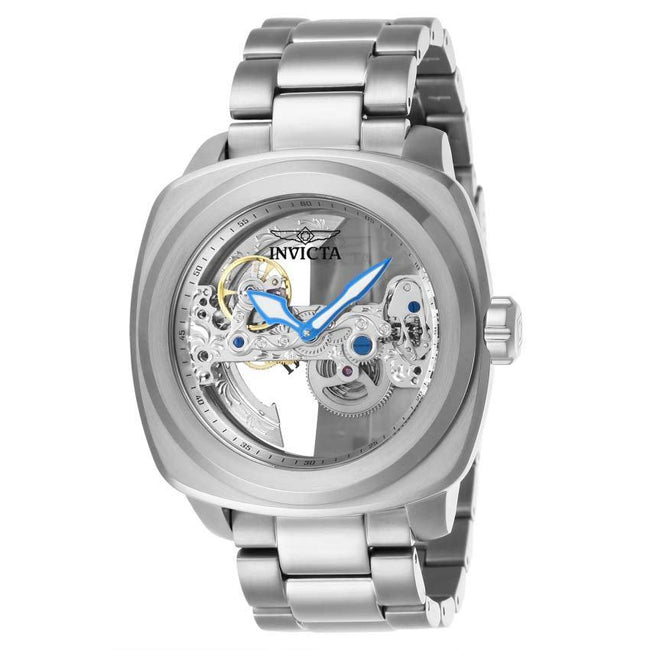 Invicta 25234 Men's Aviator Automatic 3 Hand Silver Dial Bracelet Large Size Watch