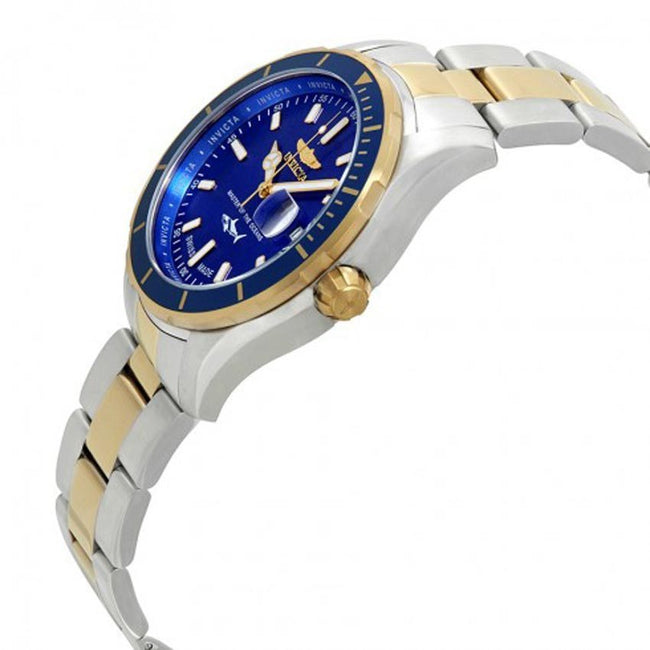 Invicta 25815 Men's Pro Diver Quartz 3 Hand Blue Dial Watch