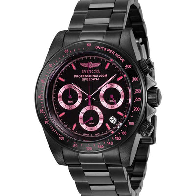 Invicta 27773 Men's Speedway Quartz Chronograph Black Dial Small Watch