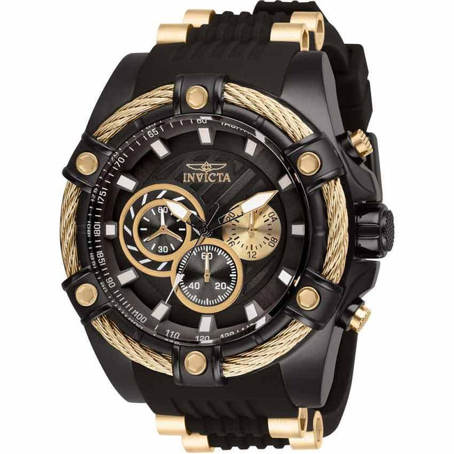 Invicta 28017 Men's Bolt Quartz Chronograph Brown, Rose Gold Dial XL Watch