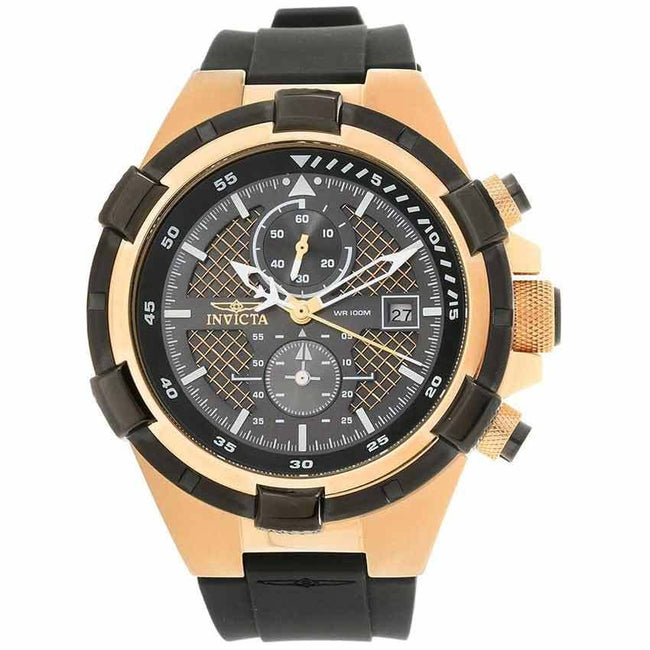 Invicta 28097 Men's Aviator Quartz Multifunction Black Dial Large Watch