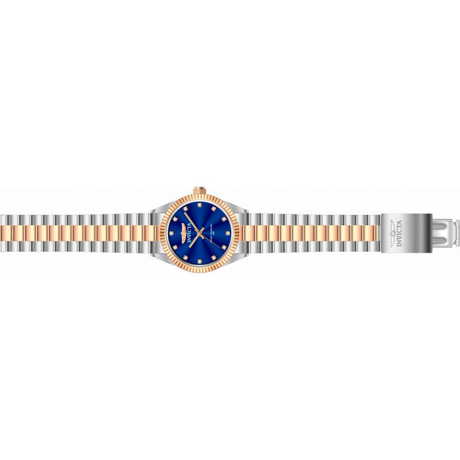 Invicta His N Her's Specialty Two Tone  3 Hand Blue Dial Watch
