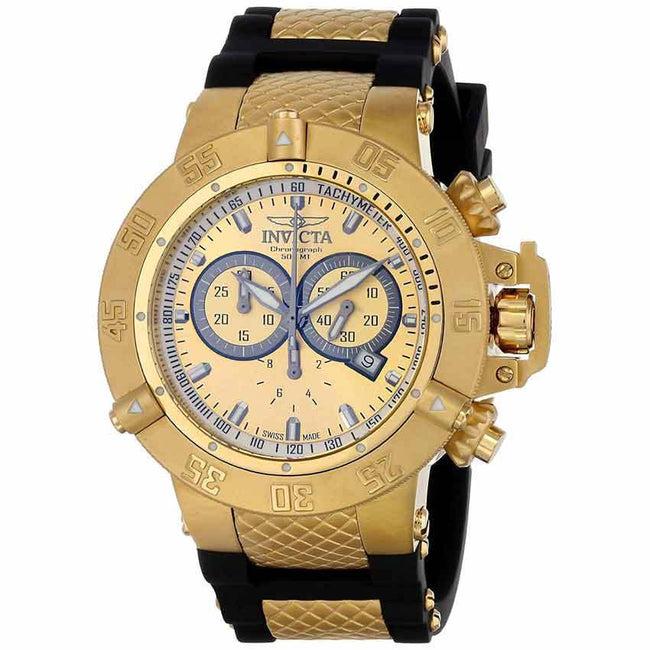 Invicta 5517 Subaqua Men's Swiss Chronograph Gold Large Size Watch