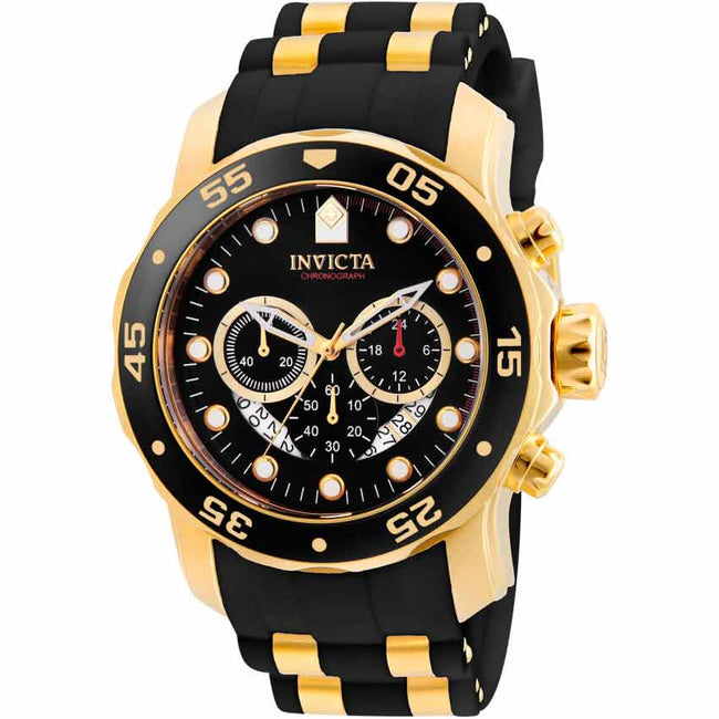 Invicta 6981 Men's Pro Diver Quartz Multifunction Black Dial Watch