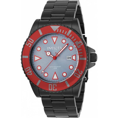 Invicta 90296 Men's Pro Diver Quartz 3 Hand Grey Dial Bracelet Watch