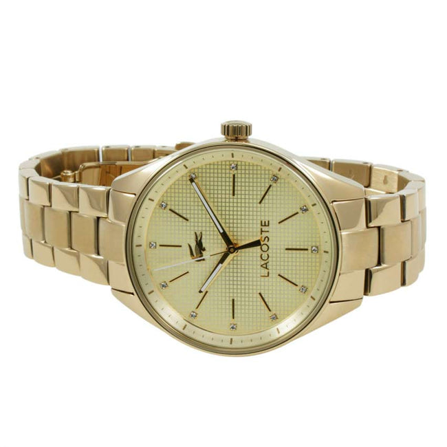 Lacoste 2000898 Women's Philadelphia Analog Quartz Yellow Gold Watch