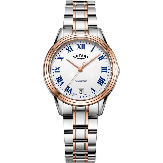 Rotary LB05260/01 Women's Cambridge Two Tone Rose Gold Quartz Watch
