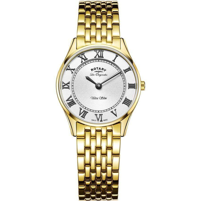 Rotary LB90803/01 Women's Ultraslim Gold Plated Swiss Small Size Watch