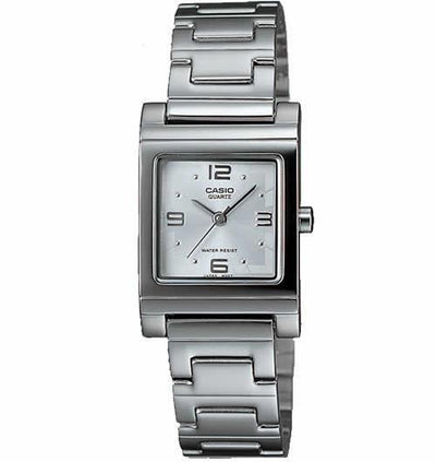 Casio LTP1237D-7A Women's Silver-Tone Analog Bracelet Small Size Watch