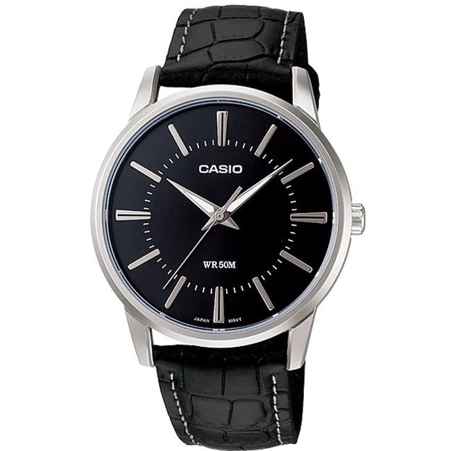 CASIO GENTS MTP-1303L-1AVDF METAL BASIC ANALOG BLACK DIAL MEDIUM SIZE WATCH