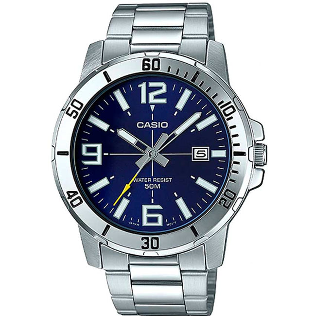 Casio Gent's MTP-VD01D-2BVUDF Enticer Analog Blue Dial Watch