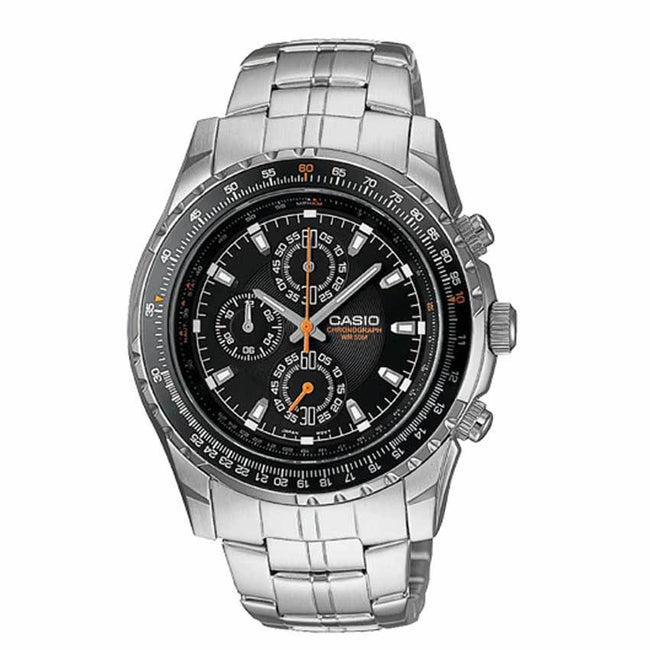 Casio MTP4500D-1AV Men's Slide Rule Bezel Aviator  Chronograph Medium Size Watch