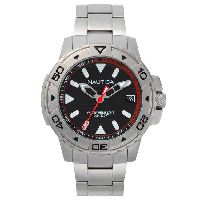 Nautica NAPEGT005 Men's Edgewater Stainless Steel Link Watch