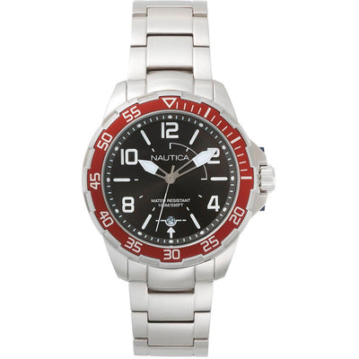 Nautica NAPPLH005 Men's Pilot House Stainless Steel Bracelet Watch