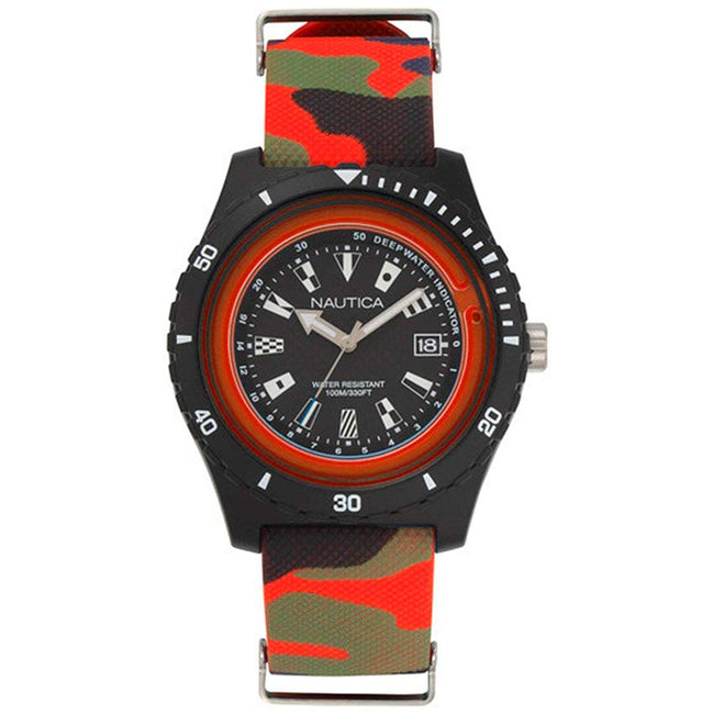 Nautica NAPSRF008 Men's Surfside Resin Case Camo Silicone Watch