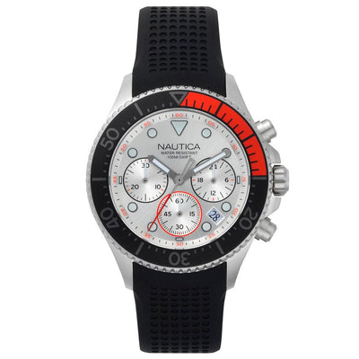 Nautica NAPWPC001 Men's Westport Chronograph Black Silicone Watch