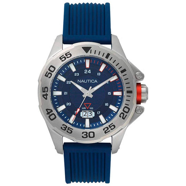 Nautica NAPWSV001 Men's Westview Analog Blue Dial Silicone Watch