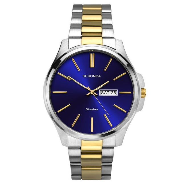 Sekonda SK1440 Men's Blue Dial Stainless Steel Bracelet Medium Size Watch