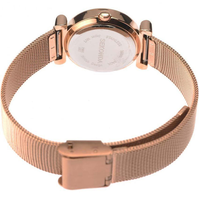 Sekonda Sk2301 Women's Rose Gold Plated Case Mesh Small Size Watch