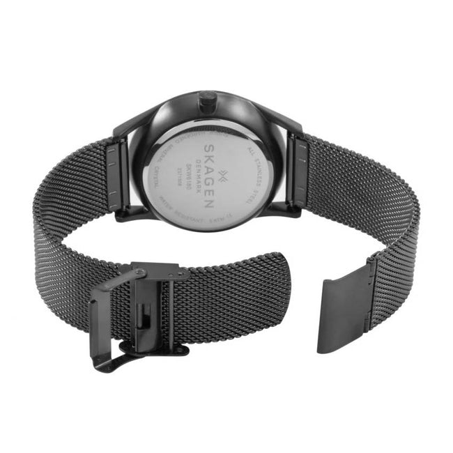 Skagen SKW6180 Men's Holst Gunmetal Steel-Mesh Multifunction Medium Watch