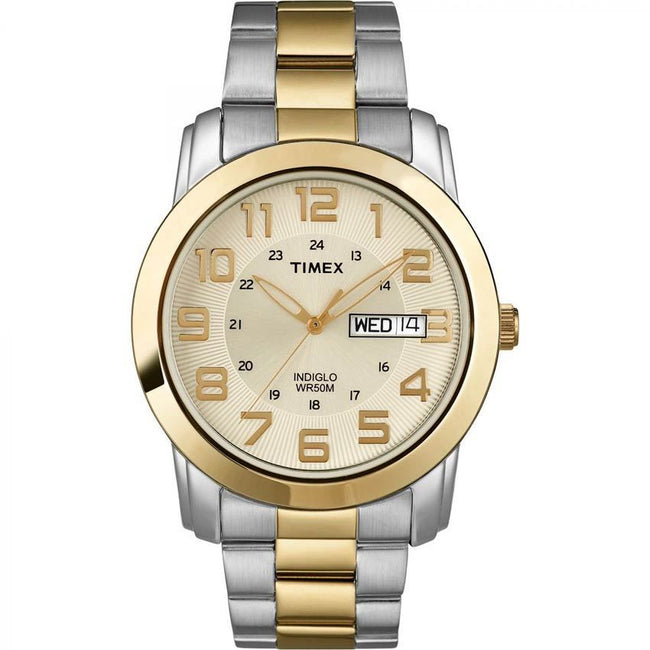 Timex T2N439 Men's Sport Chic Indiglo Two-Tone Medium Size Watch